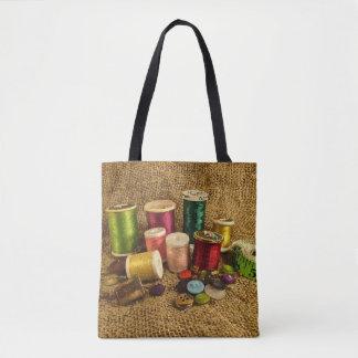 La bolsa de asas de costura del arte de la