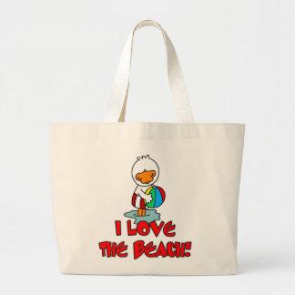 La bolsa de asas de Duckie de la playa