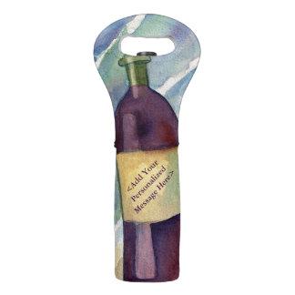 La bolsa de asas de encargo de la botella de vino bolsas para botella de vino