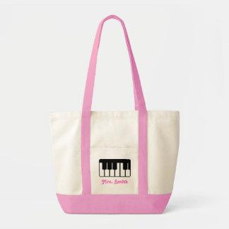 La bolsa de asas de encargo de la música del piano
