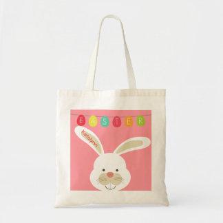 La bolsa de asas de encargo personalizada conejo