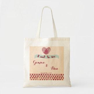 La bolsa de asas de encargo romántica nostálgica