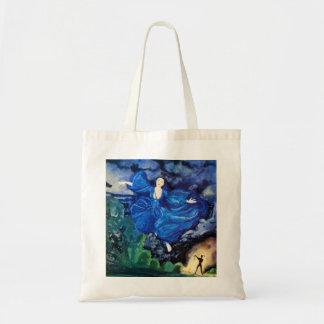 La bolsa de asas de hadas azul