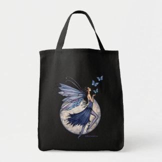 La bolsa de asas de hadas azul de medianoche de la