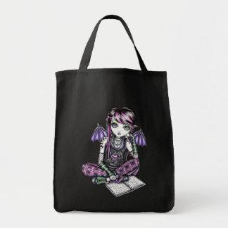 La bolsa de asas de hadas de la lona de arte de la