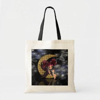 la bolsa de asas de hadas de la luna gótica, hada