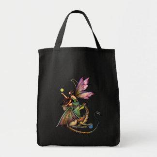 La bolsa de asas de hadas gótica del dragón por Mo