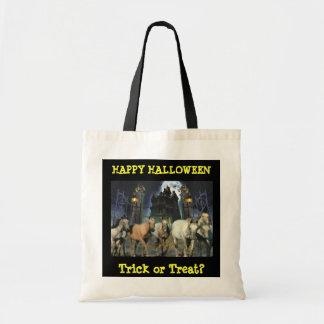 La bolsa de asas de Halloween del caballo