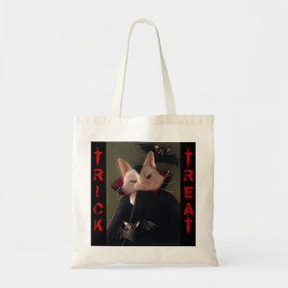 La bolsa de asas de Halloween del gato del vampiro