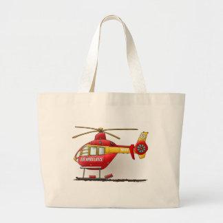 La bolsa de asas de la ambulancia del helicóptero