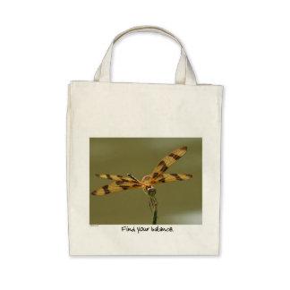La bolsa de asas de la balanza de la libélula