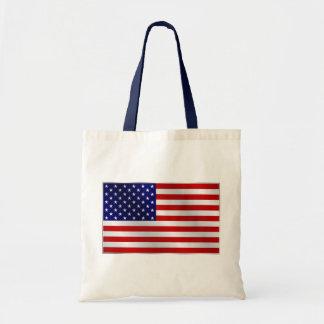 La bolsa de asas de la bandera americana