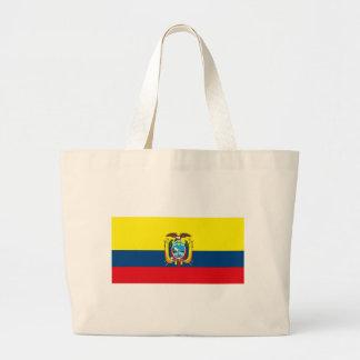La bolsa de asas de la bandera de Ecuador