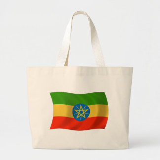 La bolsa de asas de la bandera de Etiopía