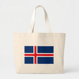 La bolsa de asas de la bandera de Islandia