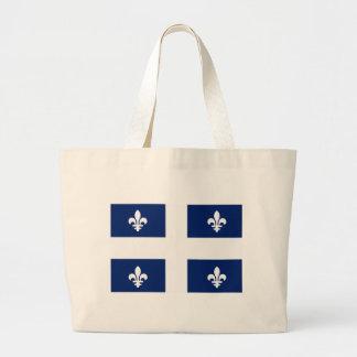 La bolsa de asas de la bandera de Quebec (provinci