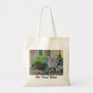 """La bolsa de asas de la bicicleta """"en su bici """""""