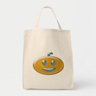 La bolsa de asas de la calabaza de Halloween