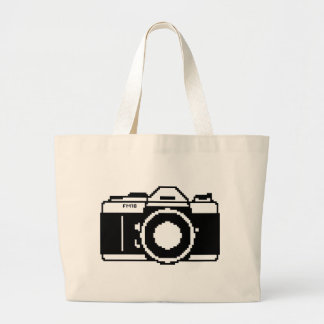 La bolsa de asas de la cámara del arte del pixel