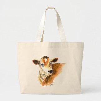 la bolsa de asas de la cara de la vaca