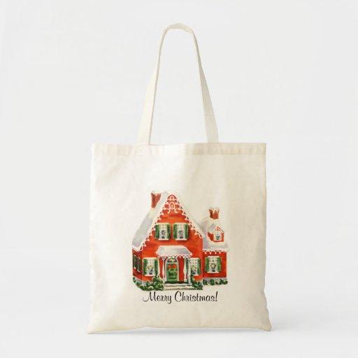 La bolsa de asas de la casa de las Felices Navidad