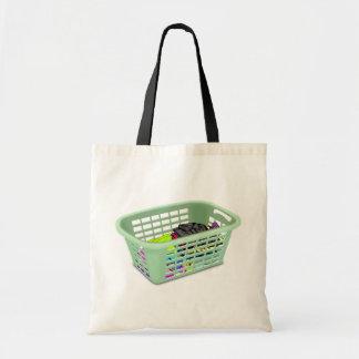 La bolsa de asas de la cesta de lavadero