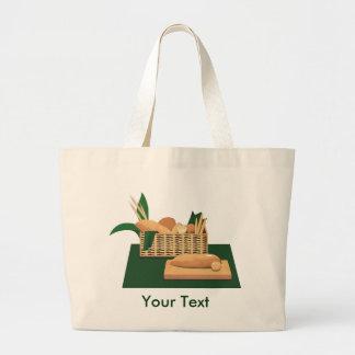 La bolsa de asas de la cesta del pan
