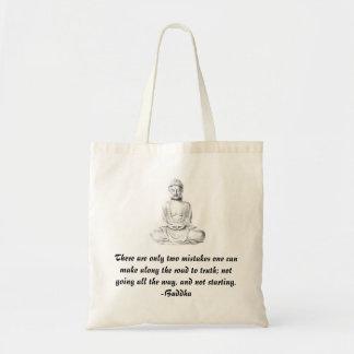 La bolsa de asas de la cita de Buda