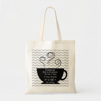 La bolsa de asas de la cita del café