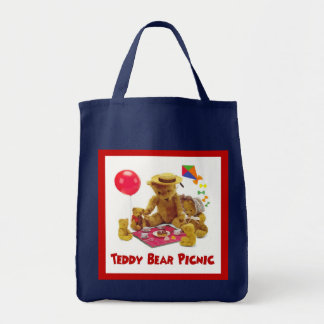 La bolsa de asas de la comida campestre del oso de