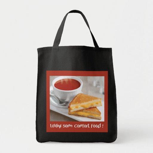 La bolsa de asas de la comida de la comodidad