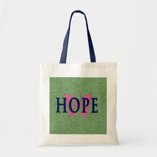 La bolsa de asas de la esperanza con la mariposa r