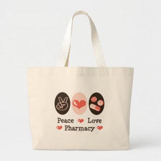 La bolsa de asas de la farmacia del amor de la paz