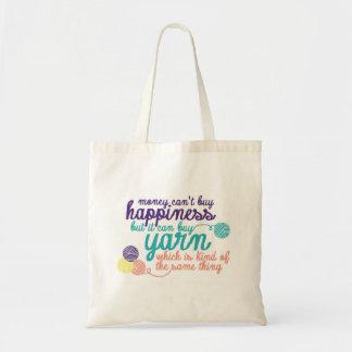 La bolsa de asas de la felicidad del hilado