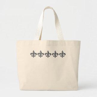 La bolsa de asas de la flor de lis - añada su prop