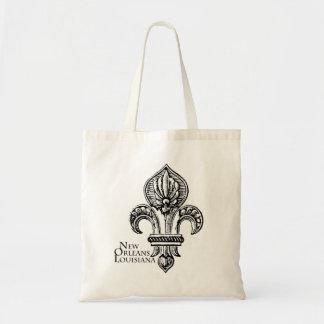La bolsa de asas de la flor de lis de NEW ORLEANS