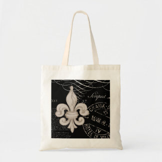 La bolsa de asas de la flor de lis del vintage…