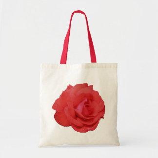 La bolsa de asas de la foto de la flor del rosa ro