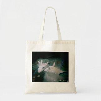 La bolsa de asas de la foto del faery del unicorni