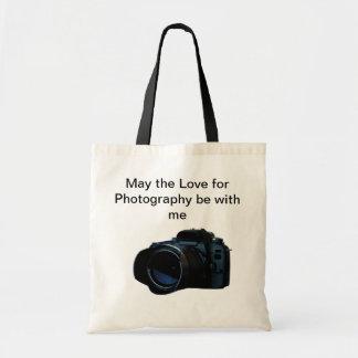 La bolsa de asas de la fotografía de la cámara