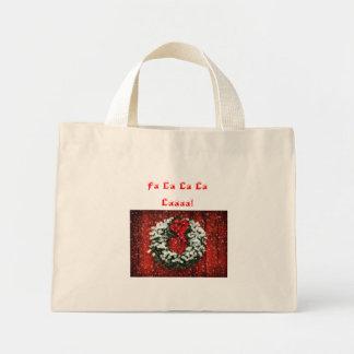 La bolsa de asas de la guirnalda del navidad Nevad