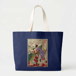 La bolsa de asas de la impresión del japonés