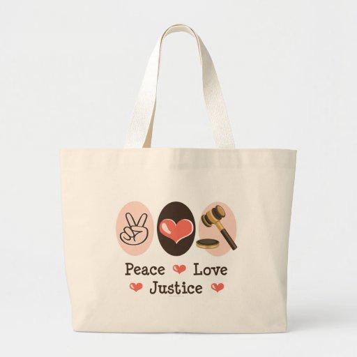 La bolsa de asas de la justicia del amor de la paz
