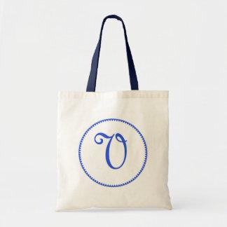 La bolsa de asas de la letra V del monograma