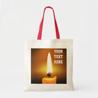 La bolsa de asas de la llama de vela