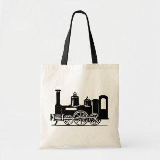 La bolsa de asas de la locomotora de vapor