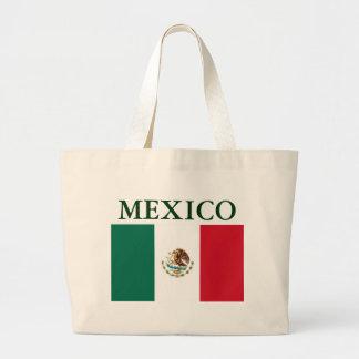 La bolsa de asas de la lona de la bandera de Méxic