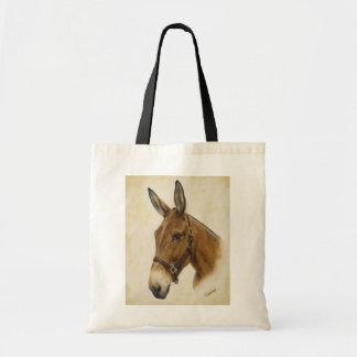 La bolsa de asas de la lona de la mula