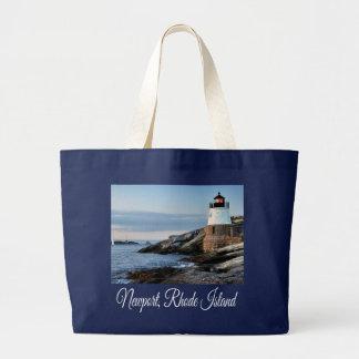 La bolsa de asas de la lona del faro de Newport,