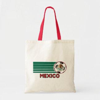 La bolsa de asas de la lona del fútbol de México